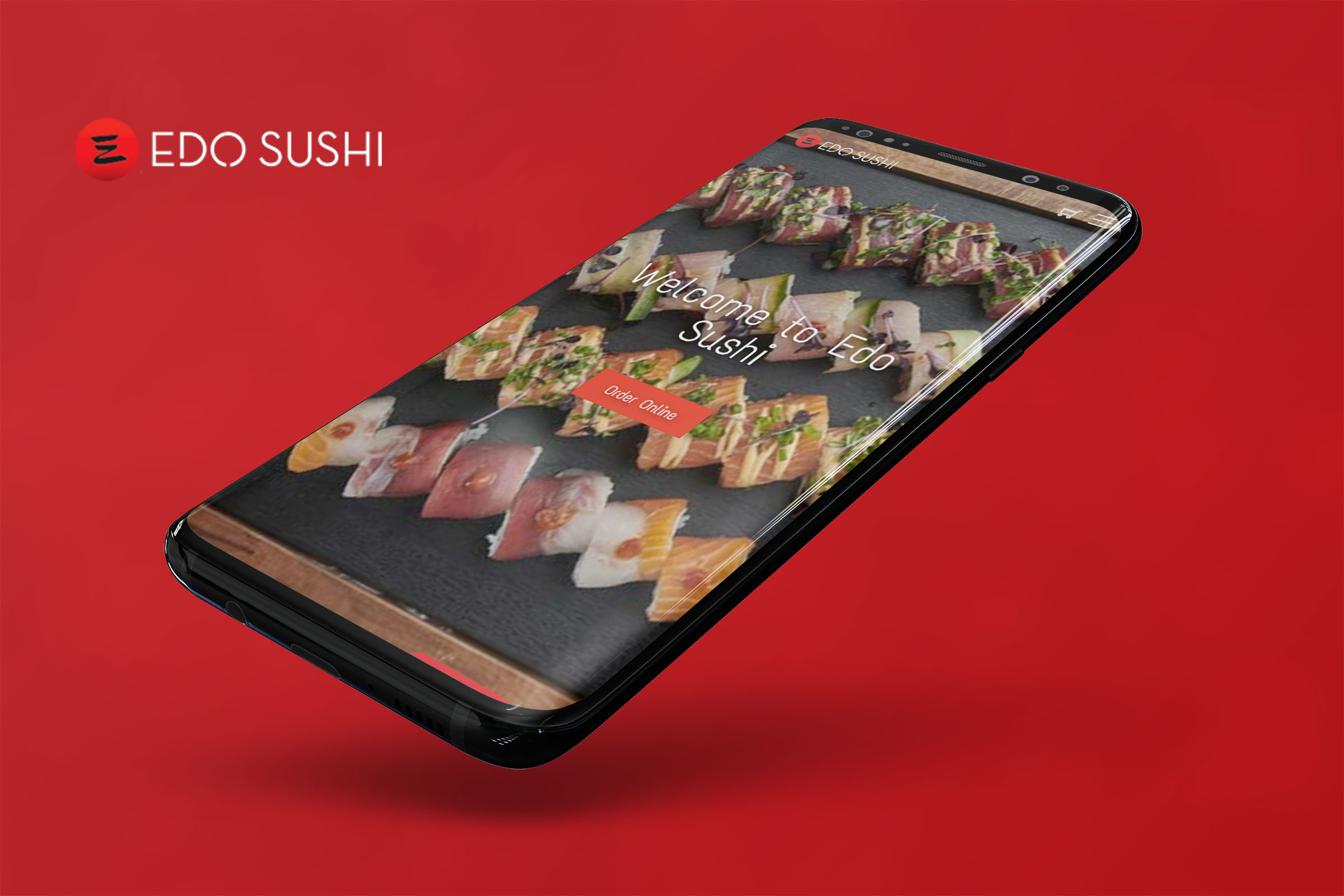 Web design and e-commerce for Edo Sushi - sushi restaurant and delivery from Bucharest