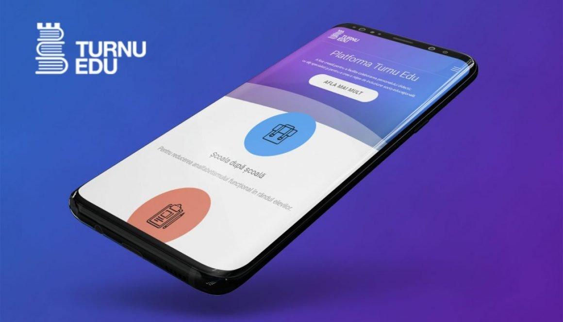 Logo, web design and app development for Turnu Edu - communcation paltform for teachers from Turnu Magurele City