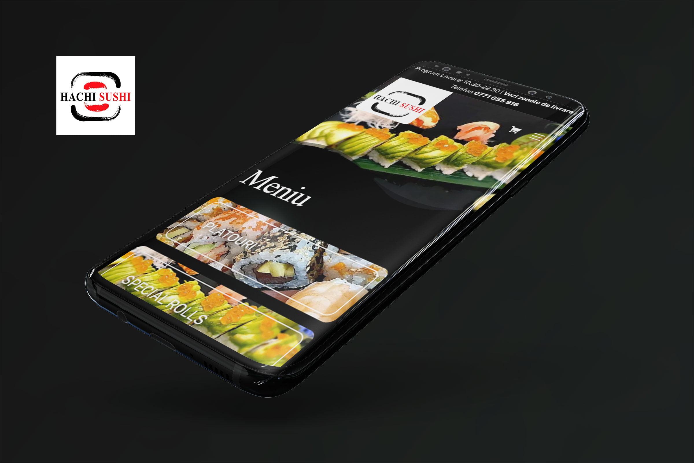 Web design și magazin online pentru Hachi Sushi – restaurant sushi cu livrare din București