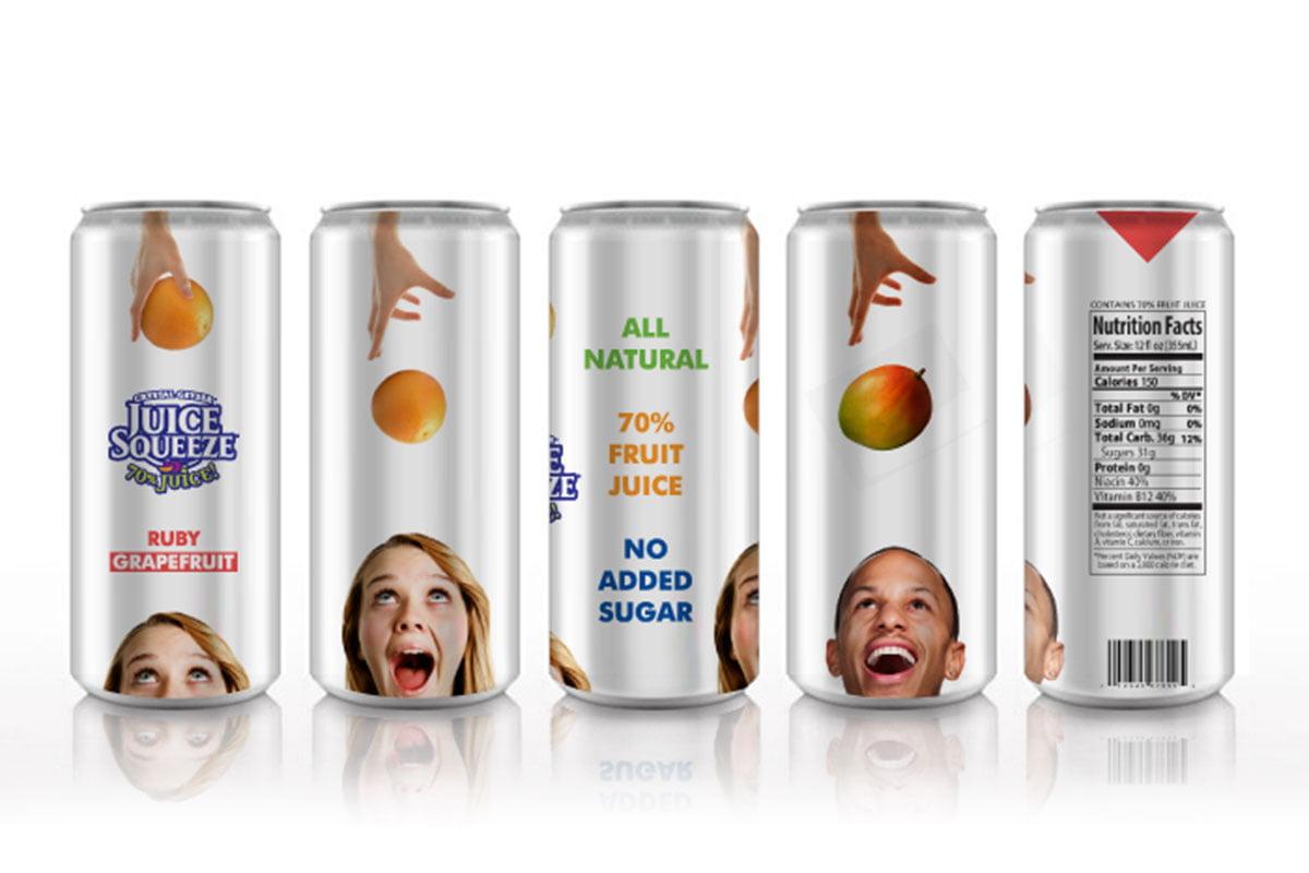 Package design pentru Juice Squeeze – productor de suc natural de fructe din USA