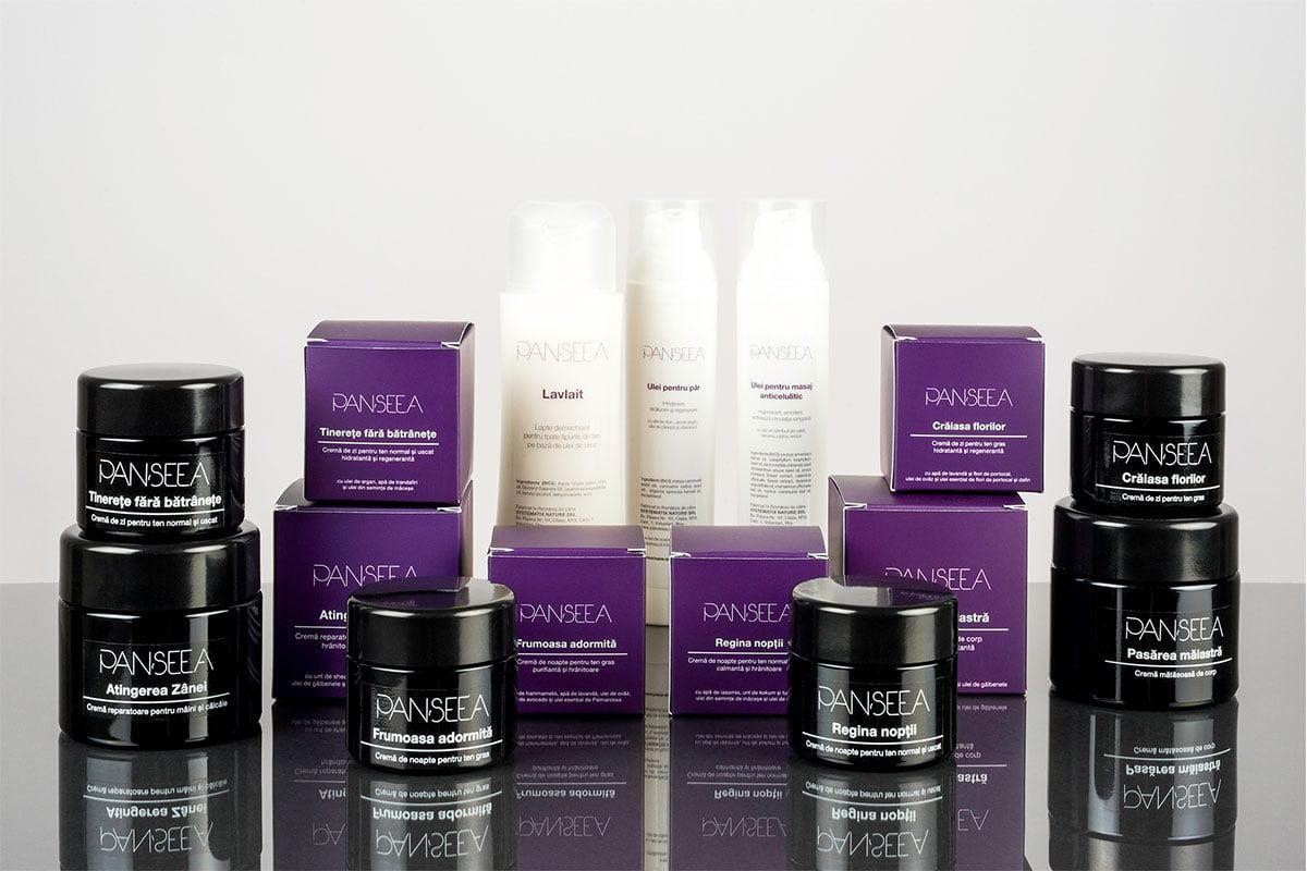 Package design pentru Panseea - producator roman de cosmetice artizanale