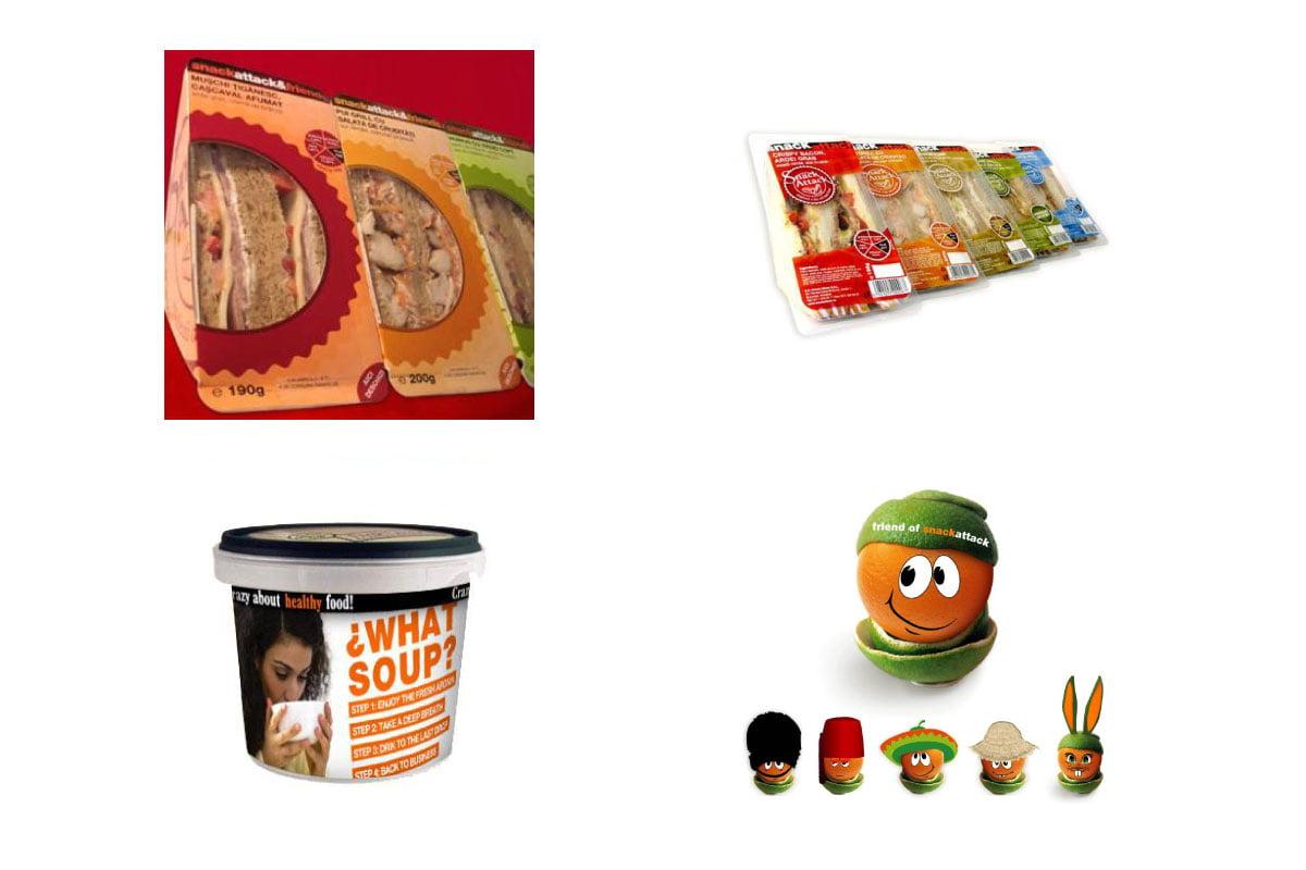 Packaging pentru Snack Attack – retea de magazine take away food