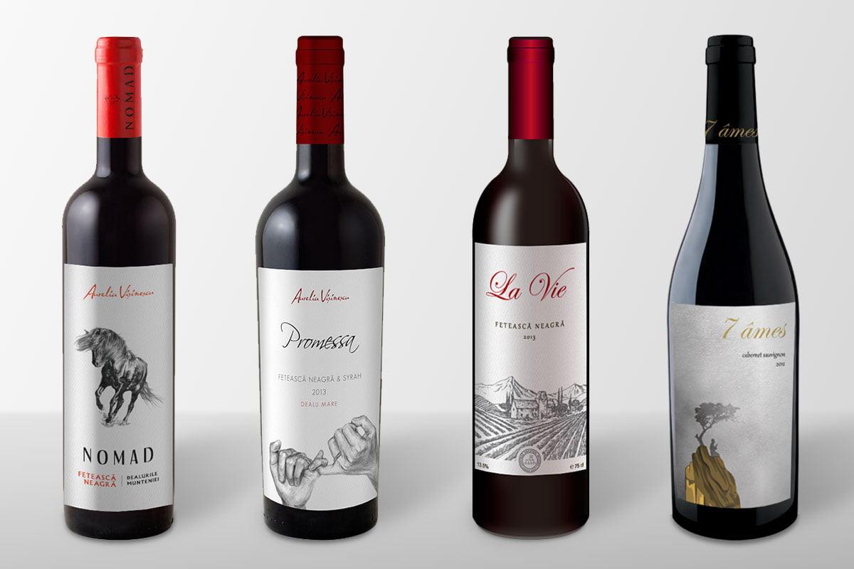 Package design pentru Aurelia Visinescu - producator roman de vinuri, pentru piata din Romania si China
