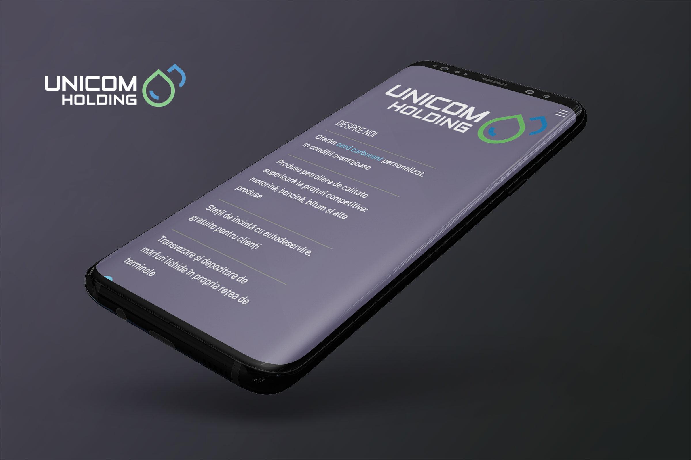 SEO pentru Unicom Holding - companie românească care distribuie produse petroliere.